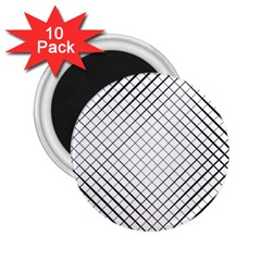 Simple Pattern Waves Plaid Black White 2 25  Magnets (10 Pack)  by Mariart