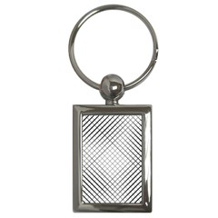 Simple Pattern Waves Plaid Black White Key Chains (rectangle)  by Mariart