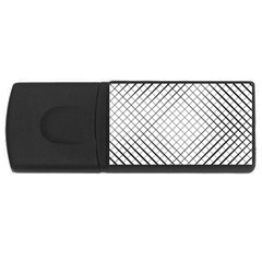 Simple Pattern Waves Plaid Black White Usb Flash Drive Rectangular (4 Gb) by Mariart