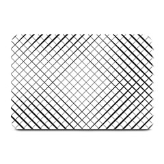 Simple Pattern Waves Plaid Black White Plate Mats by Mariart