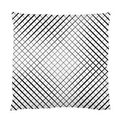 Simple Pattern Waves Plaid Black White Standard Cushion Case (one Side) by Mariart