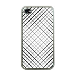Simple Pattern Waves Plaid Black White Apple Iphone 4 Case (clear) by Mariart