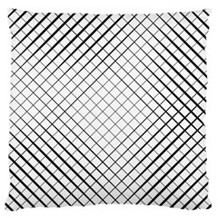 Simple Pattern Waves Plaid Black White Large Cushion Case (two Sides) by Mariart