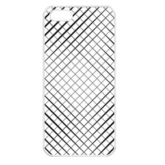 Simple Pattern Waves Plaid Black White Apple Iphone 5 Seamless Case (white) by Mariart