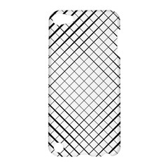 Simple Pattern Waves Plaid Black White Apple Ipod Touch 5 Hardshell Case by Mariart