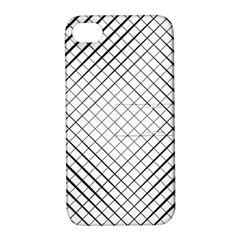 Simple Pattern Waves Plaid Black White Apple Iphone 4/4s Hardshell Case With Stand by Mariart