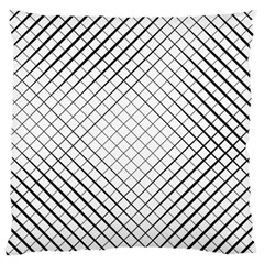 Simple Pattern Waves Plaid Black White Standard Flano Cushion Case (two Sides) by Mariart
