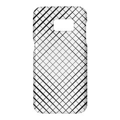 Simple Pattern Waves Plaid Black White Samsung Galaxy S7 Hardshell Case  by Mariart