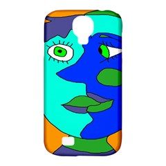 Visual Face Blue Orange Green Mask Samsung Galaxy S4 Classic Hardshell Case (pc+silicone) by Mariart