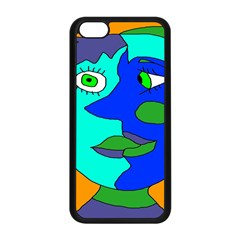 Visual Face Blue Orange Green Mask Apple Iphone 5c Seamless Case (black) by Mariart