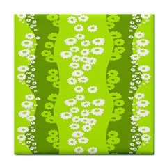 Sunflower Green Tile Coasters by Mariart