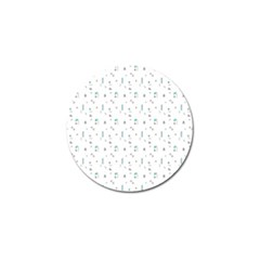 White Triangle Wave Waves Chevron Polka Circle Golf Ball Marker (10 Pack) by Mariart
