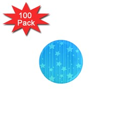 Star Blue Sky Space Line Vertical Light 1  Mini Magnets (100 Pack)  by Mariart
