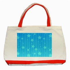 Star Blue Sky Space Line Vertical Light Classic Tote Bag (red) by Mariart