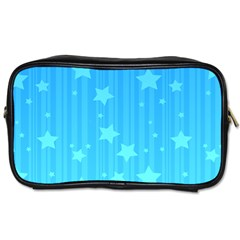 Star Blue Sky Space Line Vertical Light Toiletries Bags by Mariart