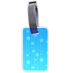 Star Blue Sky Space Line Vertical Light Luggage Tags (two Sides) by Mariart