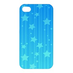 Star Blue Sky Space Line Vertical Light Apple Iphone 4/4s Premium Hardshell Case by Mariart