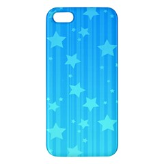 Star Blue Sky Space Line Vertical Light Iphone 5s/ Se Premium Hardshell Case by Mariart