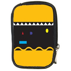 Bright Polka Wave Chevron Yellow Black Compact Camera Cases by Mariart