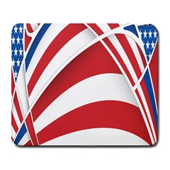 American Flag Star Blue Line Red White Large Mousepads by Mariart