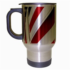 American Flag Star Blue Line Red White Travel Mug (silver Gray) by Mariart