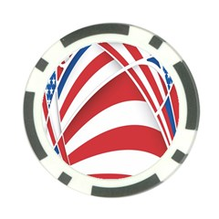 American Flag Star Blue Line Red White Poker Chip Card Guard by Mariart