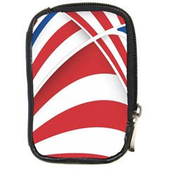 American Flag Star Blue Line Red White Compact Camera Cases by Mariart