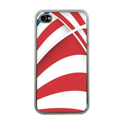 American Flag Star Blue Line Red White Apple Iphone 4 Case (clear) by Mariart