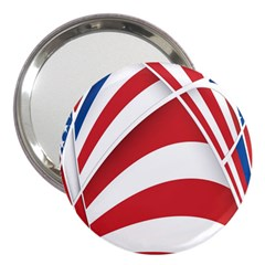 American Flag Star Blue Line Red White 3  Handbag Mirrors by Mariart