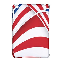 American Flag Star Blue Line Red White Apple iPad Mini Hardshell Case (Compatible with Smart Cover) by Mariart