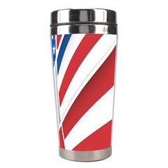 American Flag Star Blue Line Red White Stainless Steel Travel Tumblers by Mariart