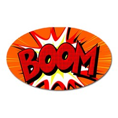 Boom Sale Orange Oval Magnet by Mariart