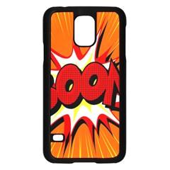 Boom Sale Orange Samsung Galaxy S5 Case (black) by Mariart