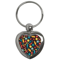 Worm Insect Bacteria Monster Key Chains (heart)  by Mariart