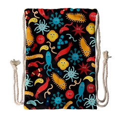 Worm Insect Bacteria Monster Drawstring Bag (large) by Mariart