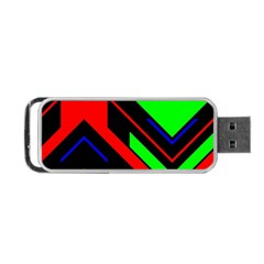 Desert Eagle Bronze Deco Pattern Texture Portable Usb Flash (two Sides) by Mariart
