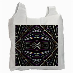Dark Ethnic Sharp Bold Pattern Recycle Bag (one Side) by dflcprints