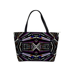 Dark Ethnic Sharp Bold Pattern Shoulder Handbags by dflcprints