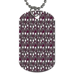 Circles Dots Background Texture Dog Tag (two Sides) by Mariart