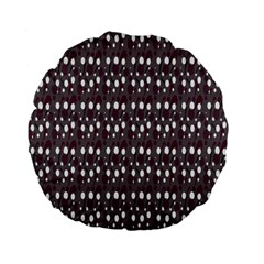 Circles Dots Background Texture Standard 15  Premium Flano Round Cushions by Mariart