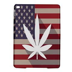 Flag American Star Blue Line White Red Marijuana Leaf Ipad Air 2 Hardshell Cases by Mariart