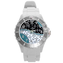 Decoboom Custom Pickguard Engraved Eames Dots Round Plastic Sport Watch (l)