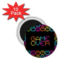 Game Face Mask Sign 1 75  Magnets (10 Pack)  by Mariart