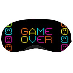 Game Face Mask Sign Sleeping Masks by Mariart