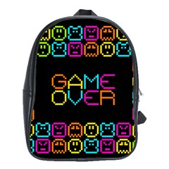 Game Face Mask Sign School Bags (xl)  by Mariart