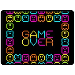 Game Face Mask Sign Double Sided Fleece Blanket (large)  by Mariart