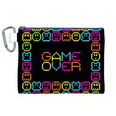 Game Face Mask Sign Canvas Cosmetic Bag (xl) by Mariart