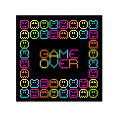 Game Face Mask Sign Small Satin Scarf (square) by Mariart