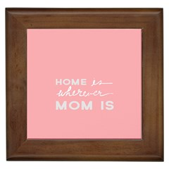 Home Love Mom Sexy Pink Framed Tiles by Mariart