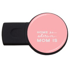 Home Love Mom Sexy Pink Usb Flash Drive Round (2 Gb) by Mariart